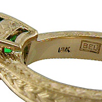 Hallmark On A Gold Ring